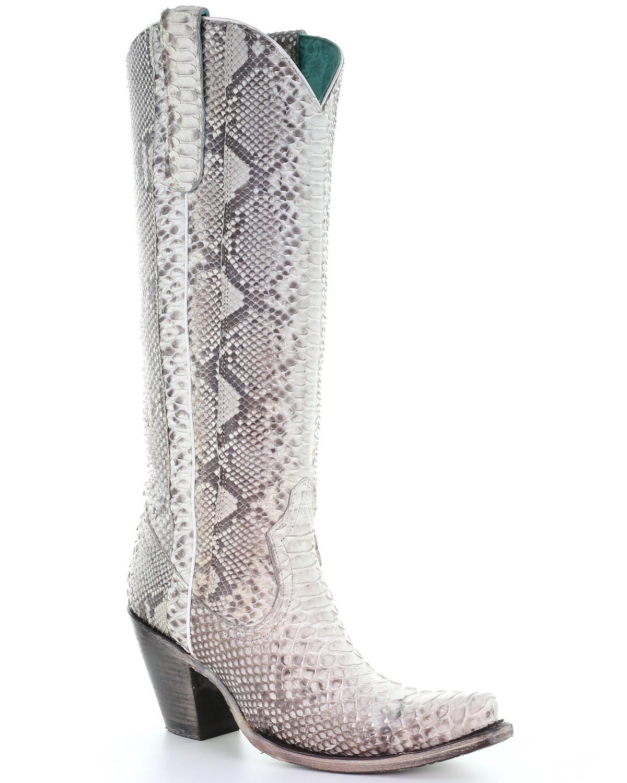 Python Tall Western Boots - Snip Toe