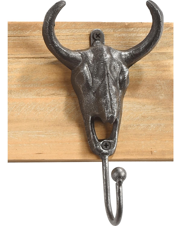 BB Ranch Reclaimed Wood Longhorn Wall Hooks   Sheplers
