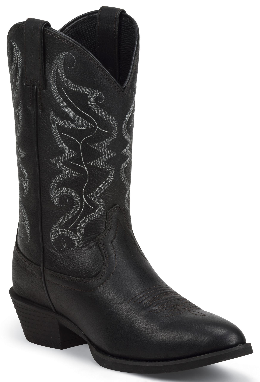 Star Black Western Boots - Round Toe