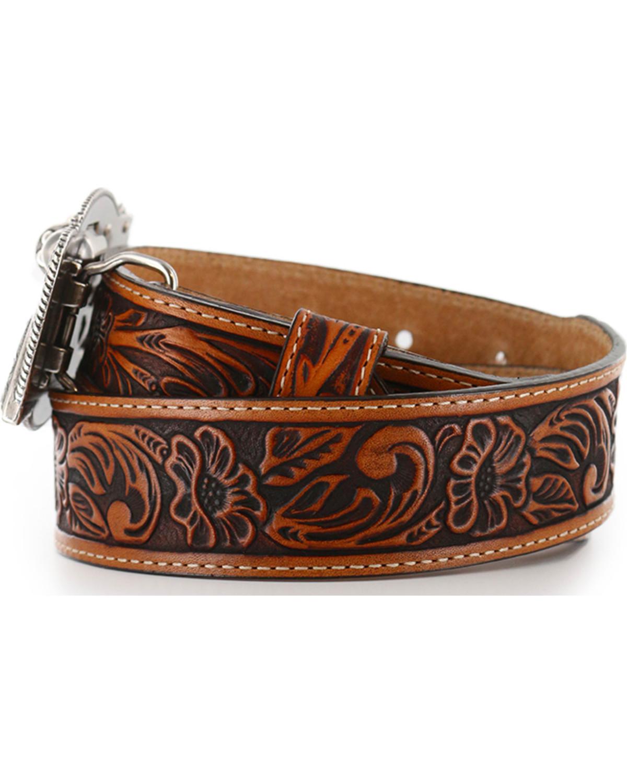 Justin Kids Tooled Leather Belt Sheplers