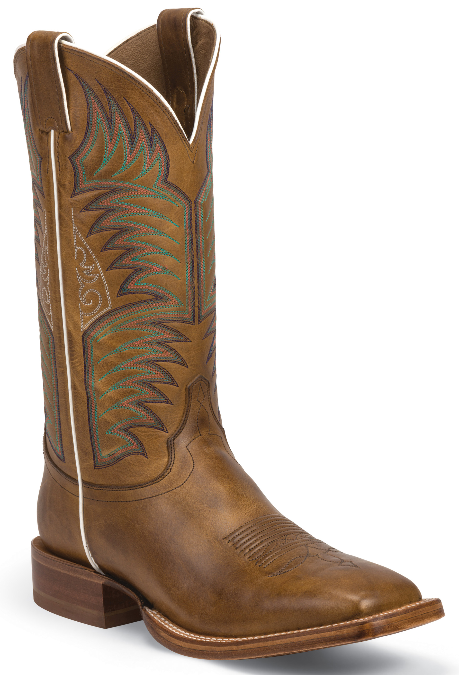 Justin Sierra Tan Stampede Cpx Cowboy Boots Square Toe